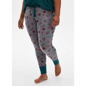 🆕 Grey Presents Drawstring Sleep Pants Pajamas